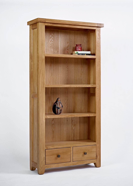 Devon Oak Large Bookcase By Oak Furniture Solutions Best