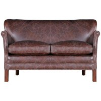 Halo Little Professor Small Aniline Leather Sofa, Moleskin ...