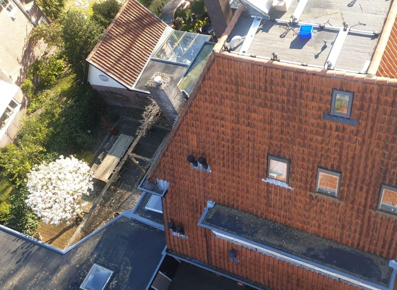 bovenaanzicht van een huis