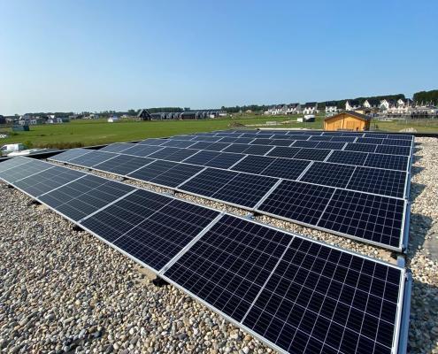 zonnepanelen platte daken