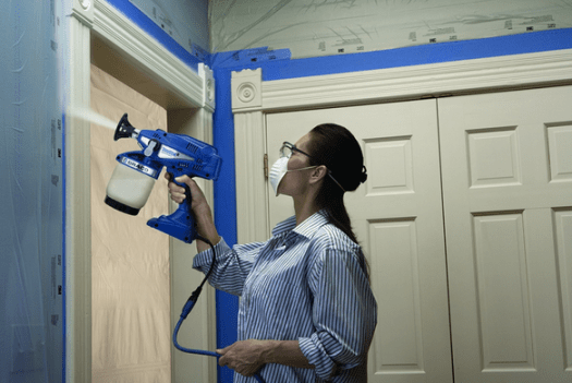 how to use a paint sprayer inside home painting