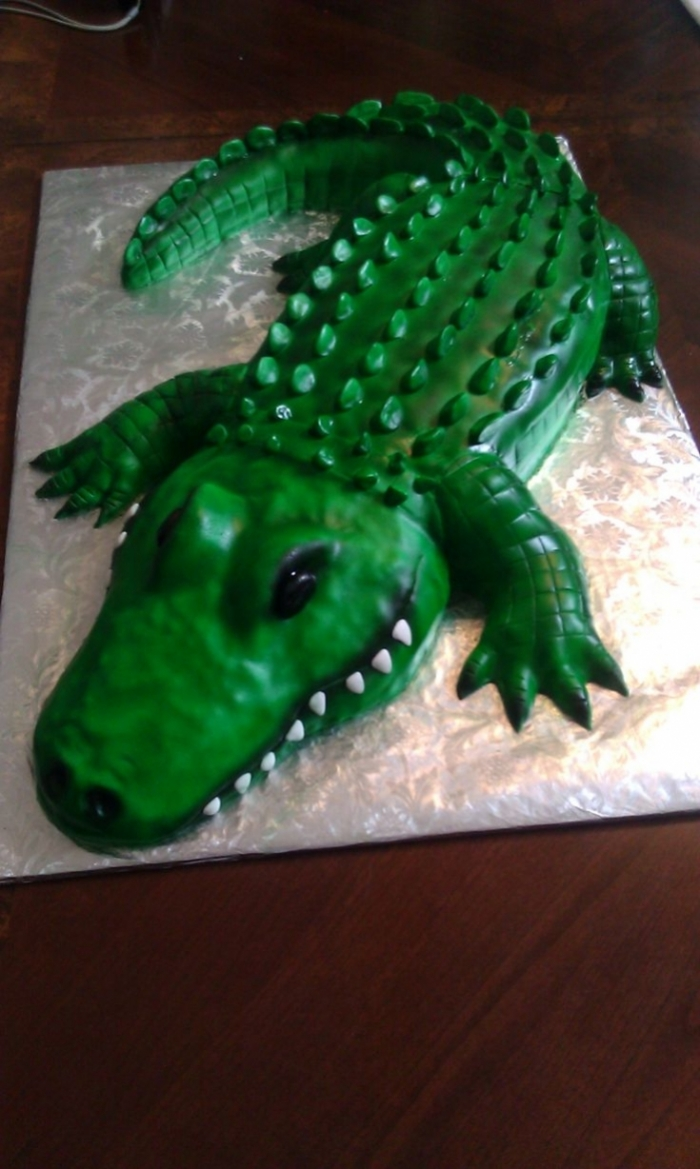 Gteau design en forme de crocodile  23022019