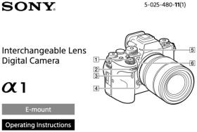 Manuale utente Sony Alpha 1 ora disponibile per il download