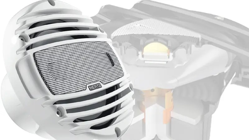 Hertz 8 Inch Marine Coaxial Set with Black Grille LED