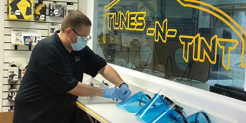 Tunes-N-Tint in Florida Builds COVID-19 PPE Face Shields