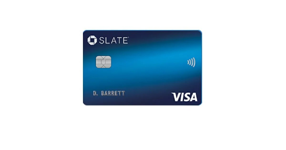 Right now, the card offers a 0% introductory apr on purchases and balance transfers for 15 months, and you'll pay no balance transfer fee for the first 60 days. Chase Slate® Credit Card - BestCards.com