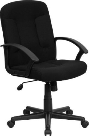 Flash Furniture GO-ST-6-BK-GG Mid-Back Computer Chair