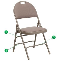 Folding Fabric Chairs Costco Massage Beige Chair Ha Mc705af 3 Bge Gg Bestchiavarichairs Com