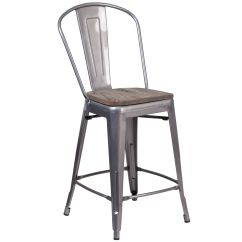 Counter Height Chairs With Back Office Seattle 24 Clear Metal Stool Bfdh 30024indclrw Tdr Bestchiavarichairs Com