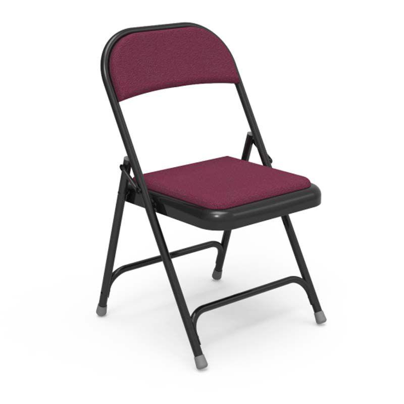 folding fabric chairs transport at walmart red steel chair 188 red201 blk01 bestchiavarichairs com our multi purpose with sedona ruby pads and black frame