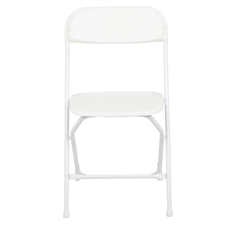 White Plastic Folding Chair LEL3WHITEGG