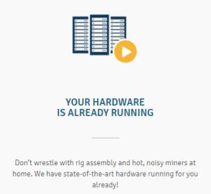 The hardware is running at Genesis Mining