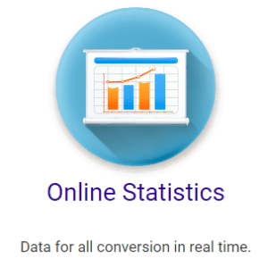 Online statistics available at Hashflare