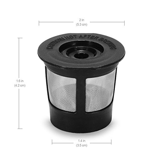 Styddi 4 Pack Single Reusable K Cups Stainless Mesh Coffee Filter