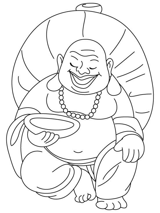 Laughing Buddha also celebrating Chinese New Year