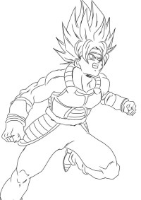 Dragon Ball Z - Free printable Coloring pages for kids   283x200