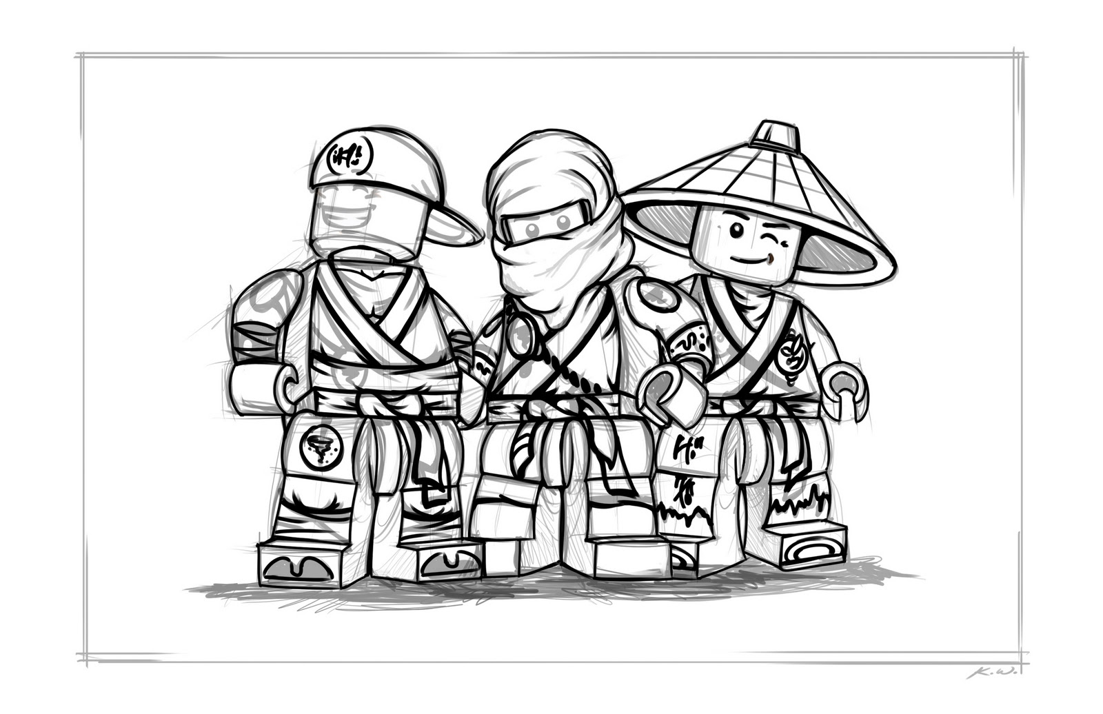 Free coloring pages of all lego ninjago
