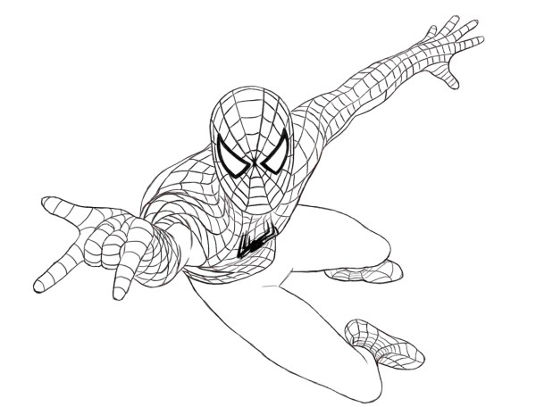 coloring pages of spiderman # 14