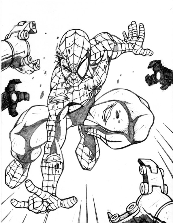 spiderman coloring pages online # 5