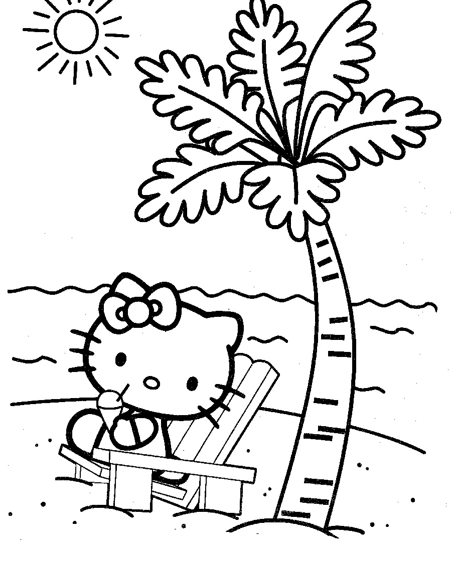 Toddler Coloring Pages Beach