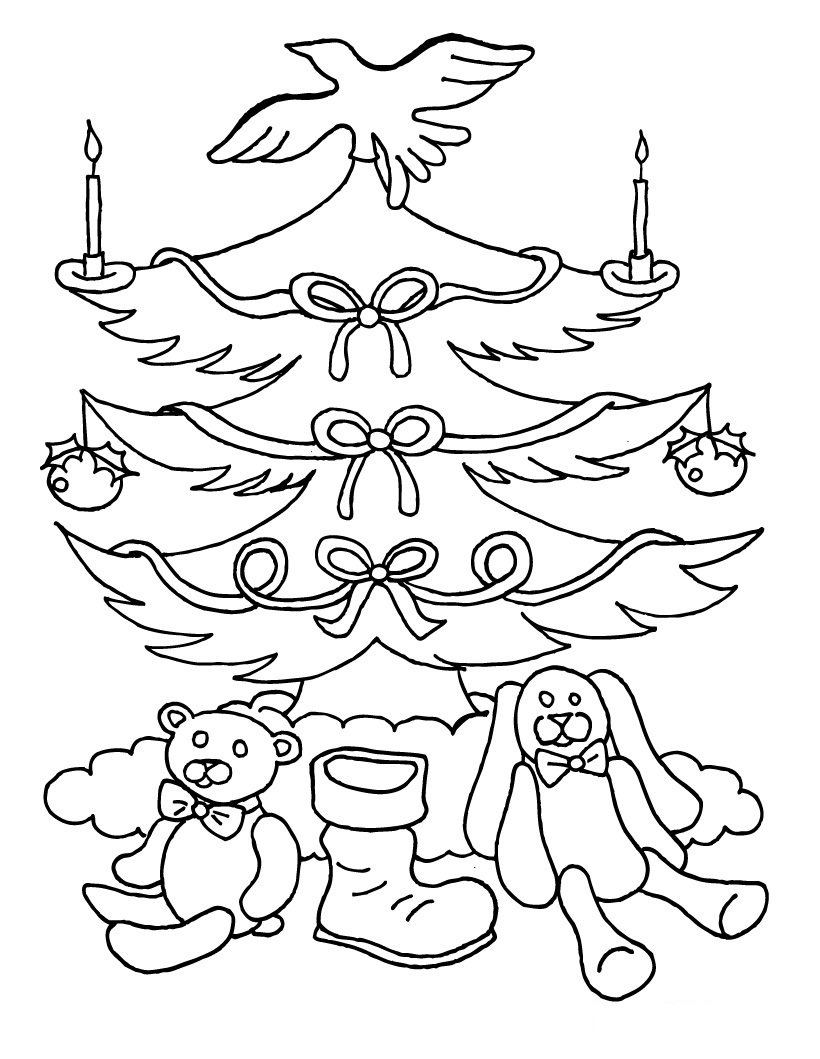 Free Printable Christmas Tree Coloring Pages For Kids | free printable christmas coloring pages