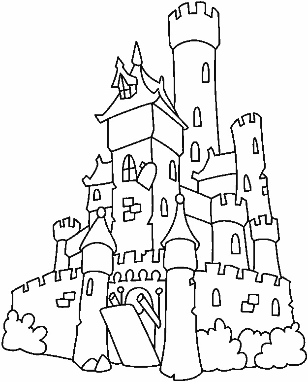to draw castle coloring pages