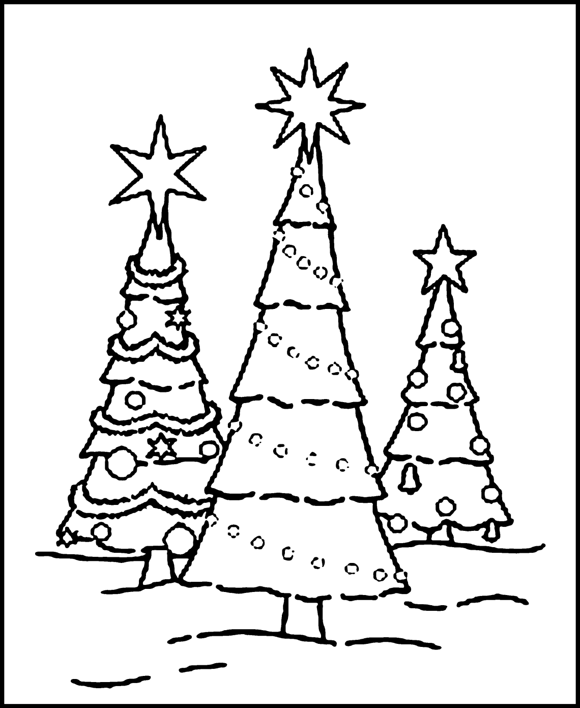 Free Printable Christmas Tree Coloring Pages For Kids | christmas tree coloring pages