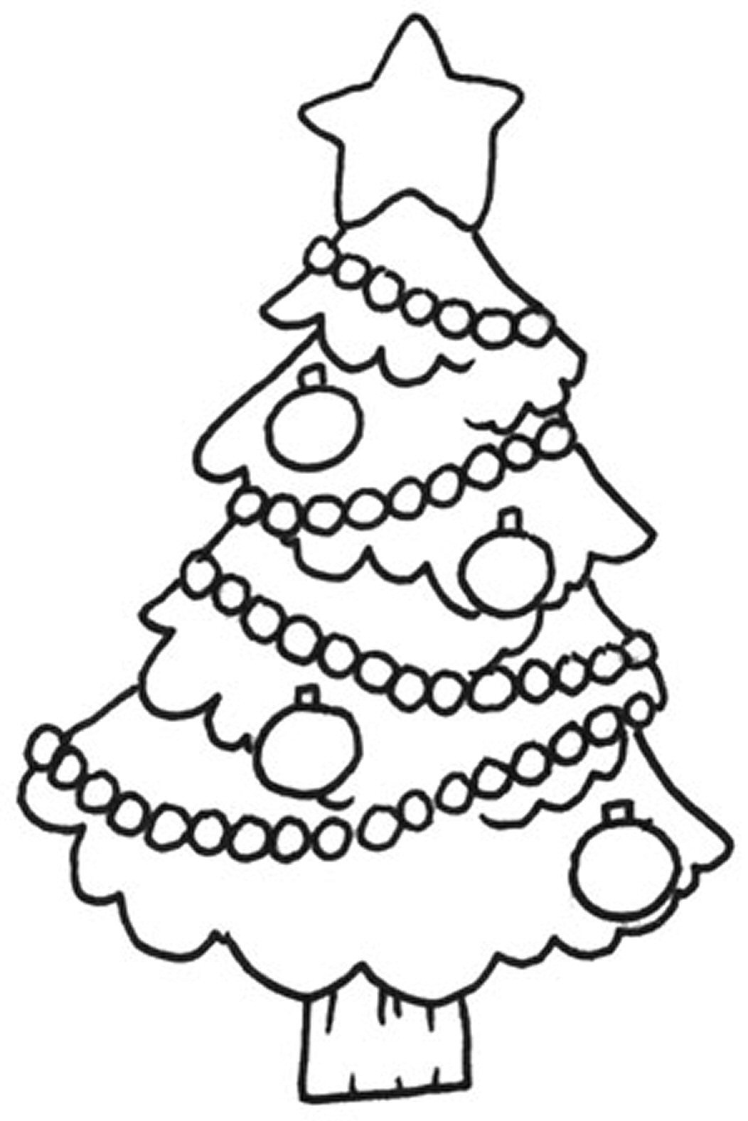 Free Printable Christmas Tree Coloring Pages For Kids   christmas tree coloring sheet