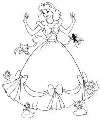 Malvorlagen Cinderella Gratis Free Printable Cinderella