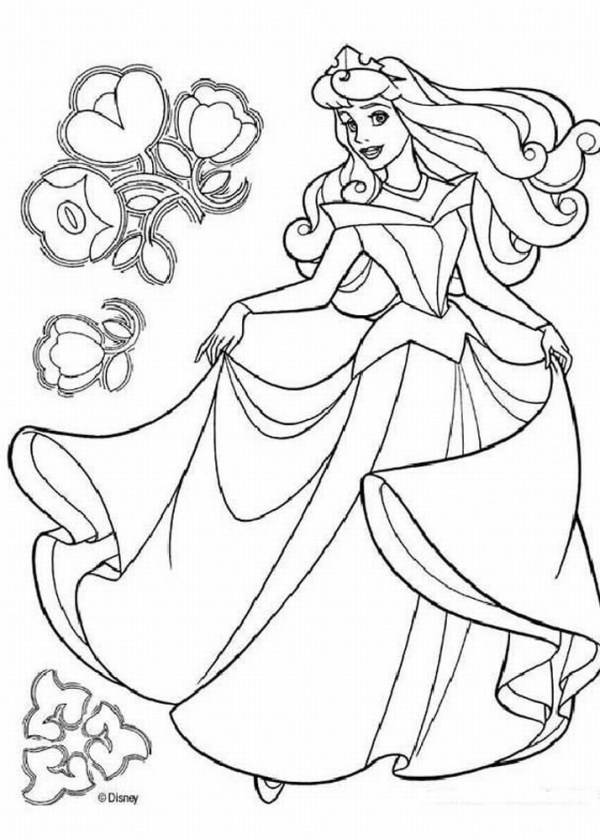 printable disney princess coloring pages # 3