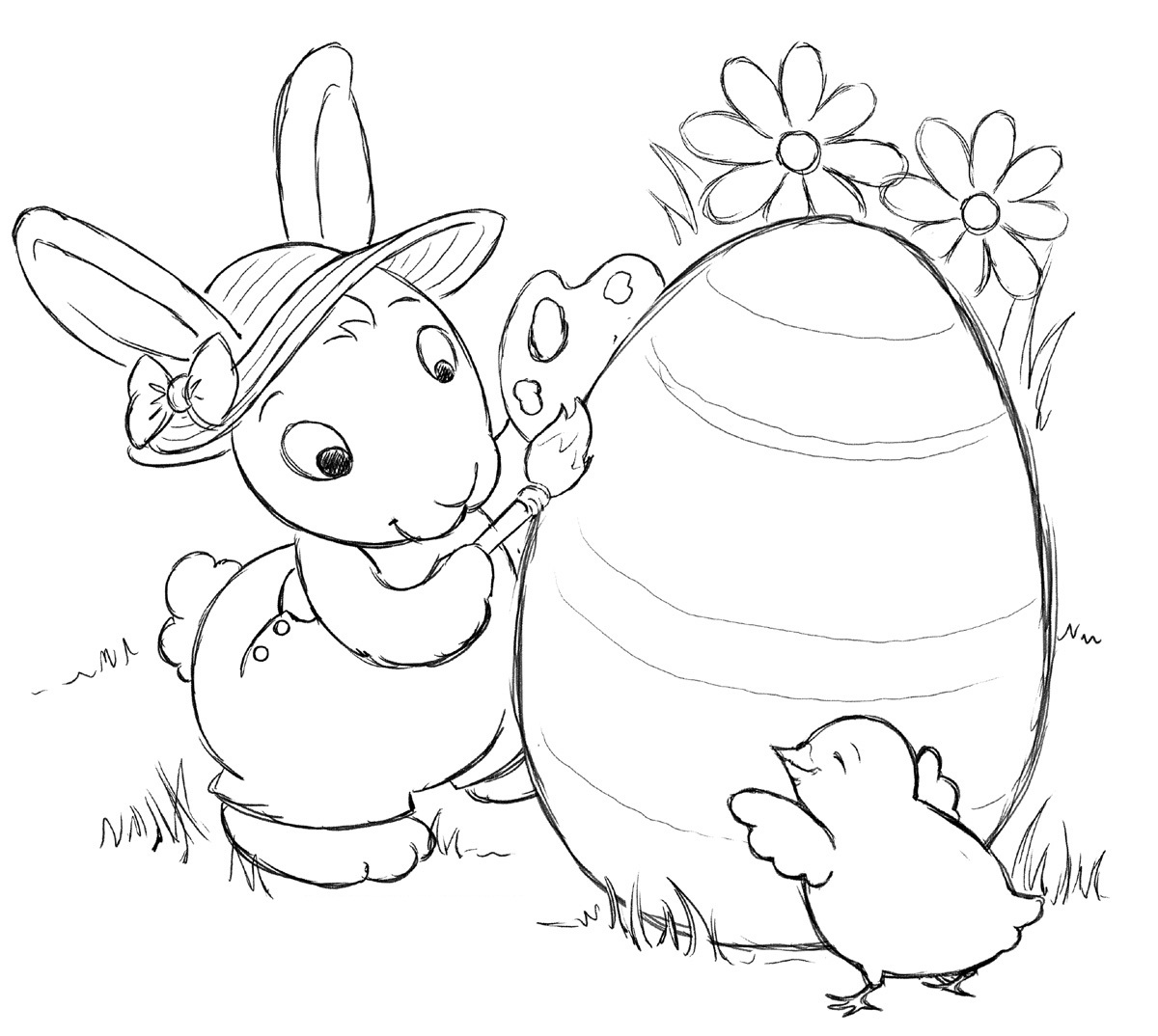 Free Printable Easter Bunny Coloring Pages For Kids