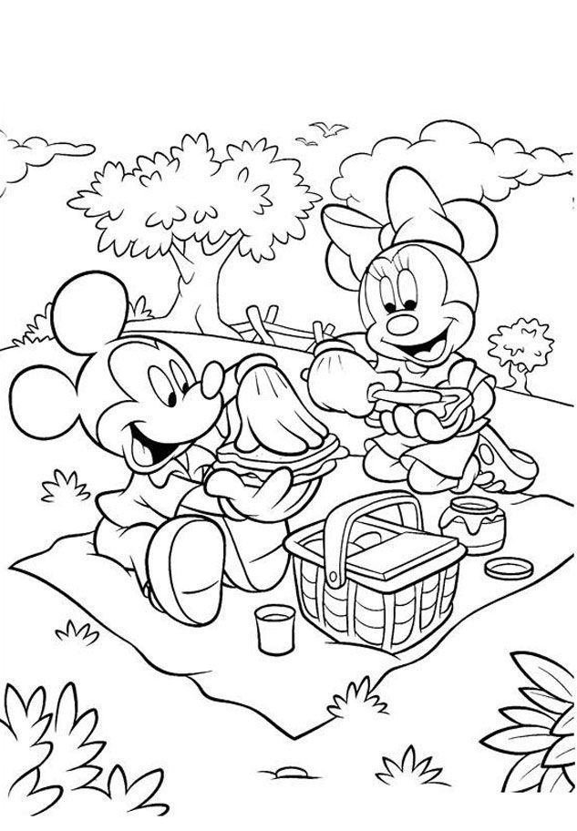 Minnie Mouse Coloring Pages L