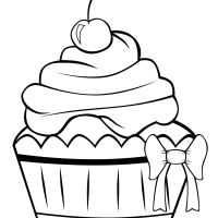 Printable Cupcake Coloring Pages For Kids Desktop Cupcake Of Thanksgiving Iphone Hd Cute