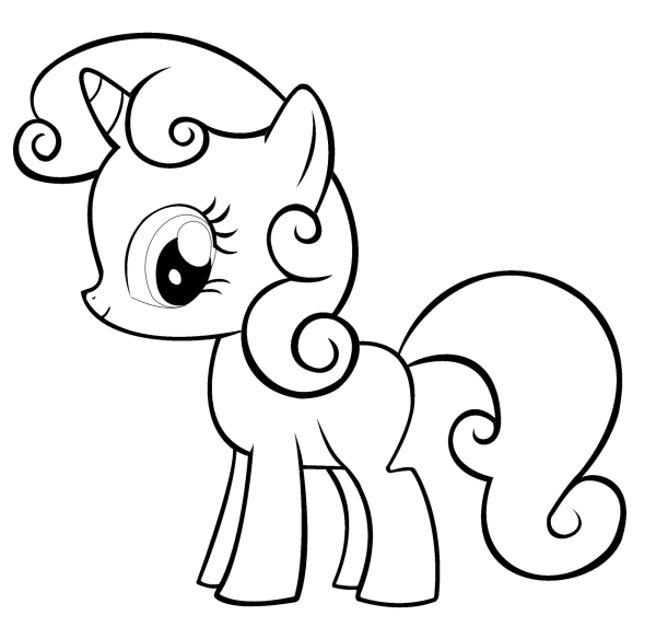 free printable little pony coloring