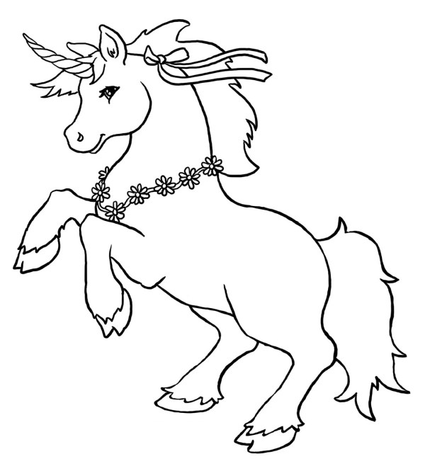 free unicorn coloring pages # 23