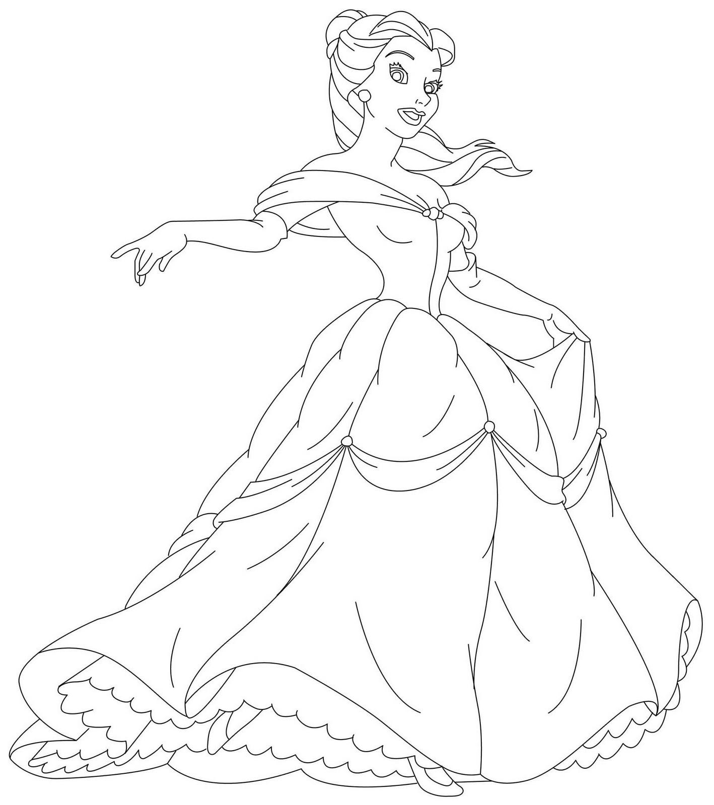 Disney princesses coloring pages kidsuki, disney princess coloring pages