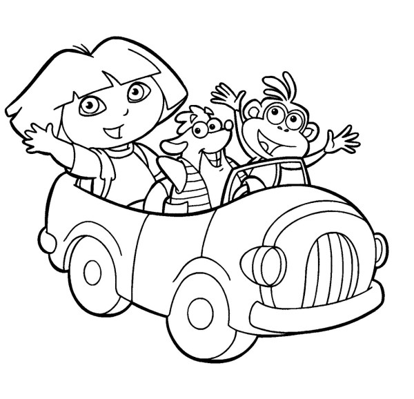 dora coloring pages printable # 23