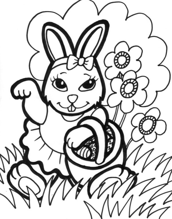 20+ Easter Bunny Coloring Printables Ideas and Designs