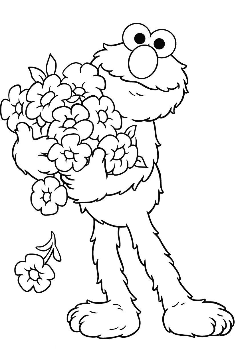 Free Printable Elmo Coloring Pages For Kids | free coloring pages for toddlers