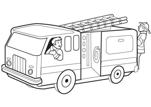 firetruck coloring pages # 7