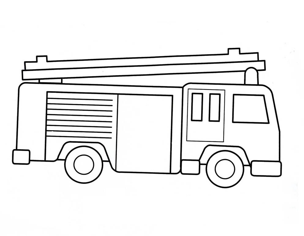 Fire Engine Coloring Pages For Kids, Fire, Free Engine