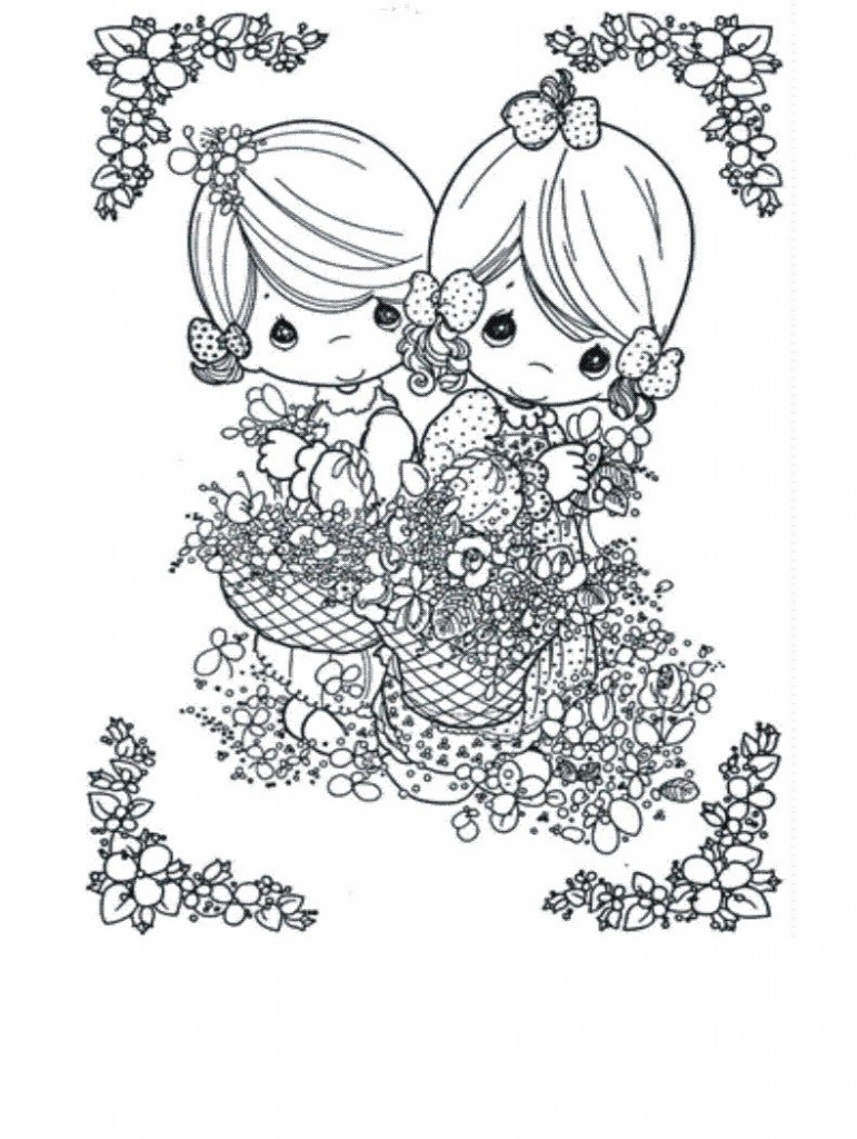 Free coloring pages of baby precious moments
