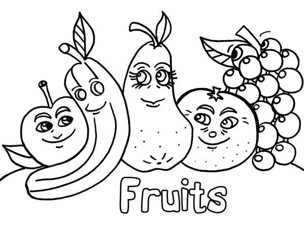 fruit and vegetable coloring pages # 11