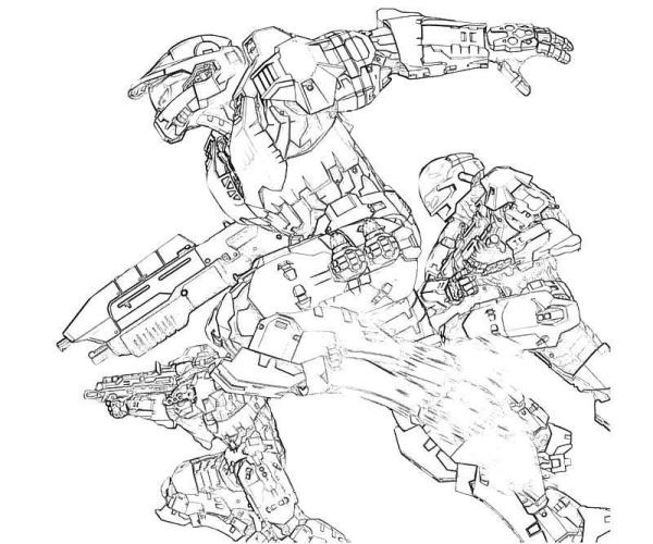 coloring pages halo # 40