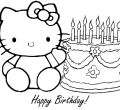 Hello kitty coloring pages happy birthday desktop printable birthday for flowers computer full hd pics kids