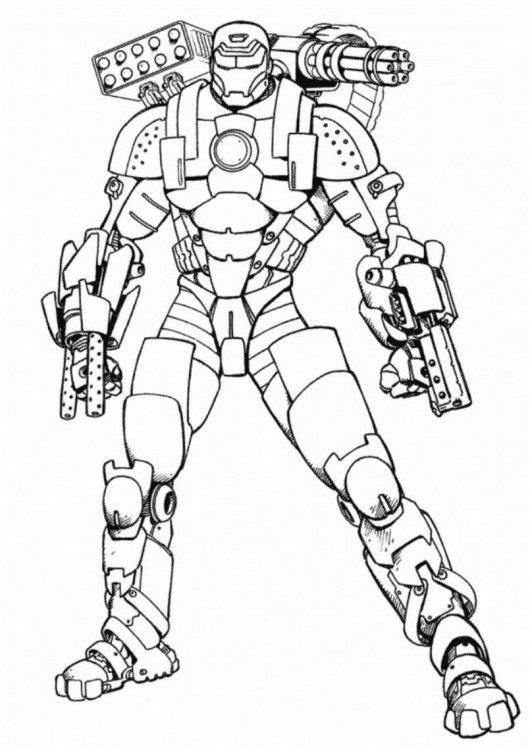 ironman coloring page # 14