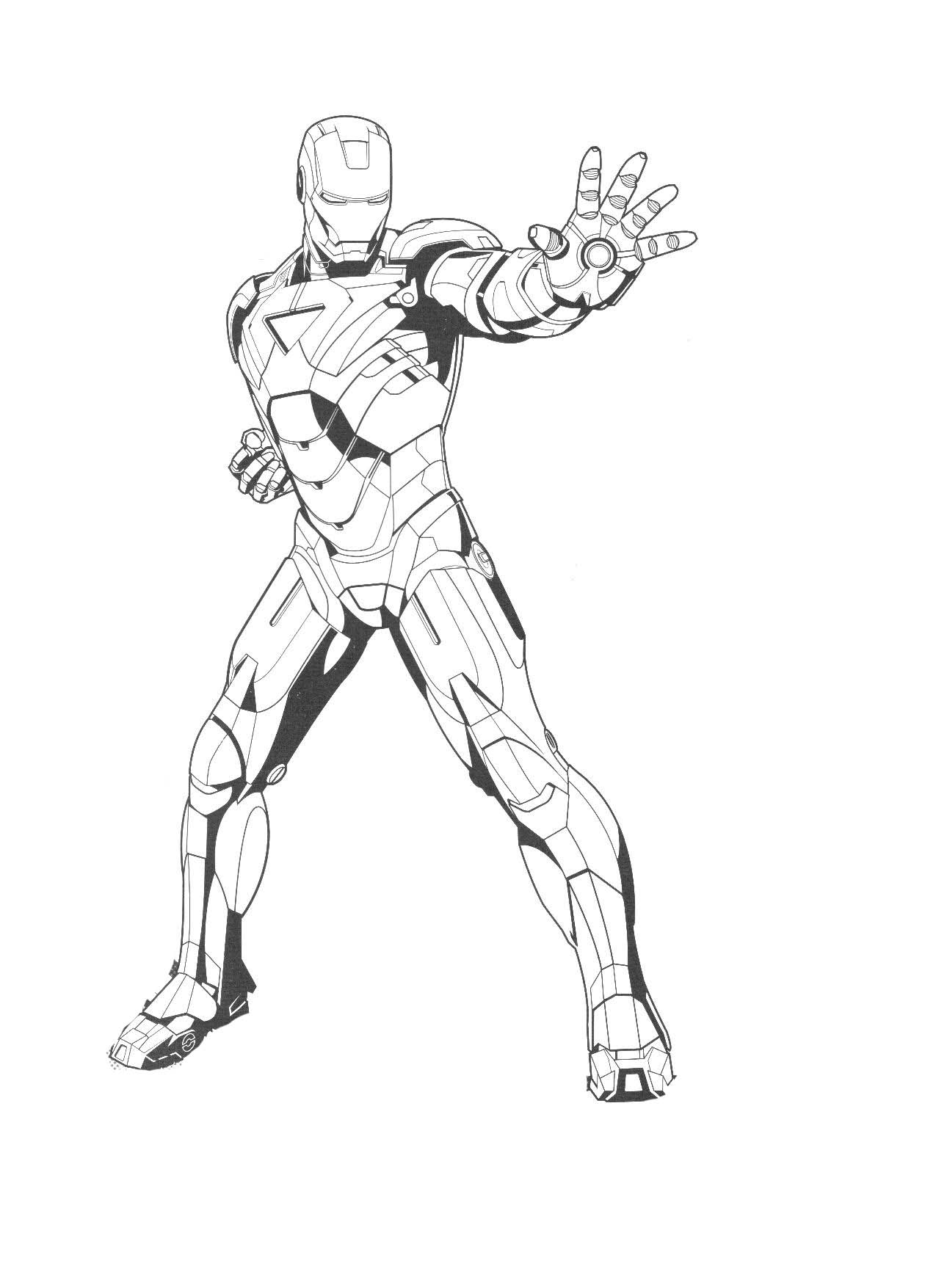 Iron Man Coloring Pages Games Coloration