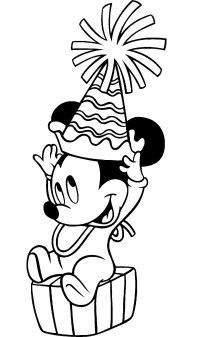 Happy Birthday Mickey Mouse Printable Coloring Pages ...