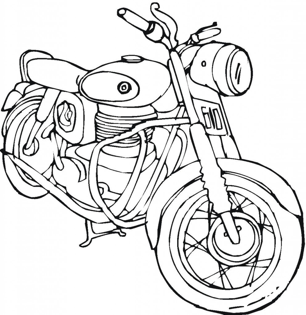 Motorcycle Coloring Page Pictures