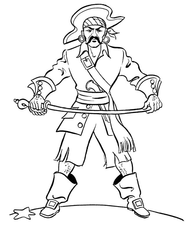 Printable Pirate Hat Coloring Page Coloring Pages